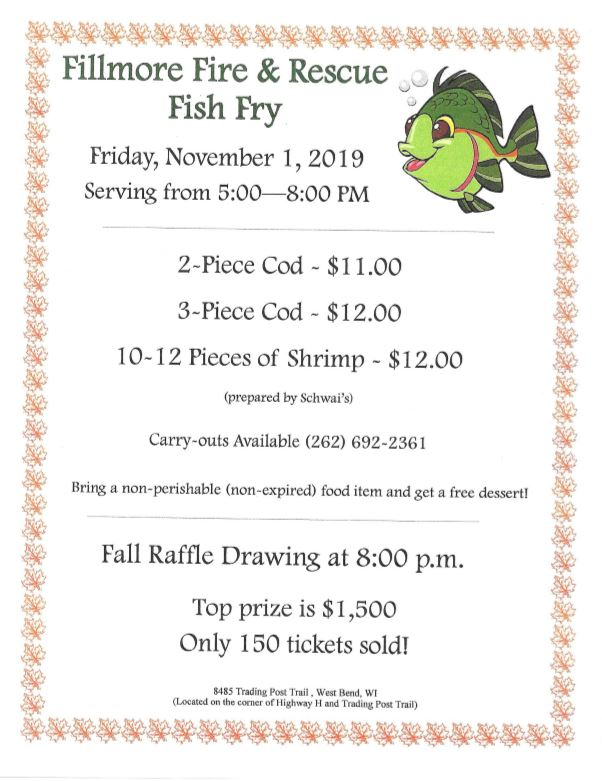 Fillmore Fire Department Fish Fry