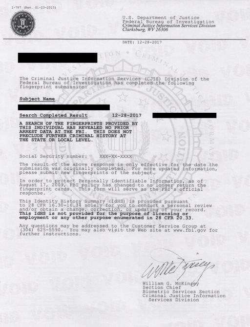 Sample Letter Of Attestation Criminal Background Check