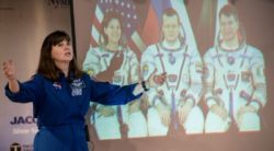 Cady Coleman speaks about space travel