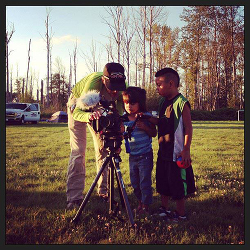 Teaching the next generation. Photo courtesy of Longhouse Media.
