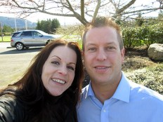 Krys Karns and Nate Perea, CEO Snoqualmie Chamber of Commerce