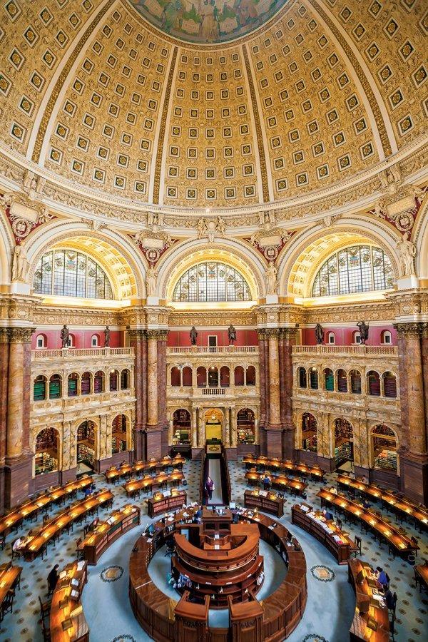 Library Of Congress Main Reading Room Washingtonian Dc