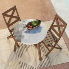 Outdoor Bistro Table And Chairs Set Patio Chair Replacement Vinyl Straps 7 Sets For Your Teeny Tiny Balcony Or Patch A Modern Alternative To The Wrought Iron Classic Plus They Re Heck Of Lot Easier Balance Beer On 399 Driftwood