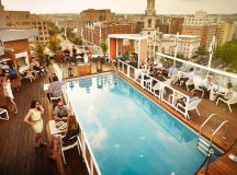 Best rooftop pool bar brunch DC DNV Rooftop.
