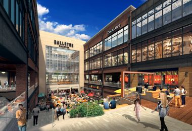 A Huge Food Hall Is Coming to Ballston with Dumplings, Tacos, and Sushi Burritos