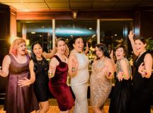 This Couple Ditched The Frills of A Formal Wedding for An Awesome New Years Eve Party at a DC Poolhall images 16