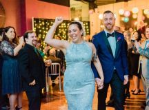 This Couple Ditched The Frills of A Formal Wedding for An Awesome New Years Eve Party at a DC Poolhall images 30