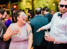 This Couple Ditched The Frills of A Formal Wedding for An Awesome New Years Eve Party at a DC Poolhall images 35