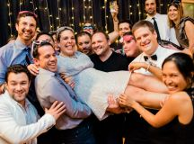 This Couple Ditched The Frills of A Formal Wedding for An Awesome New Years Eve Party at a DC Poolhall images 39