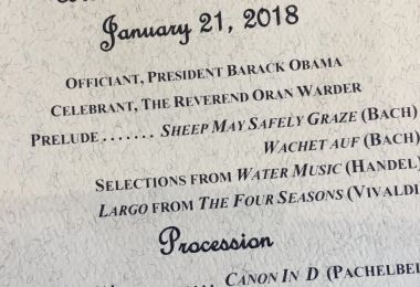 President Obama Officiated at a Wedding in DC This Past Weekend