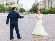This Naval Officer Bride Unwittingly Smuggled Her Own Engagement Ring Overseas to Her Air Force Officer Groom images 12