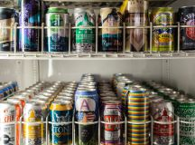 Choose from 60 canned beers. Photo by It's pizza, beer, and games at Paradiso Game Room. Photo by Juliana Molina.