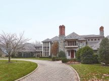 The family's Potomac mansion. Photograph by Jeff Elkins.