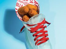 Resin shoe for croquetas at Jaleo.