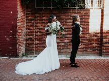 Fathom Gallery Wedding Nichole Wyche Mackenzie Huffman Chic Downtown Washington DC Wedding