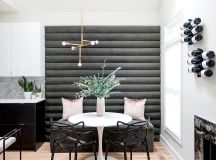 They DIY'd the banquette for about $400.