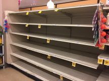 Look at the Empty Bottled-Water Shelves at DC Grocery Stores images 0