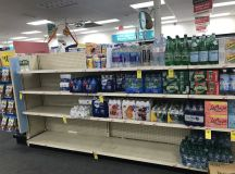 Look at the Empty Bottled-Water Shelves at DC Grocery Stores images 6