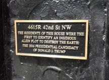 A DC Couple Hung a Plaque on Their Home Trolling President Trump and So Can You images 0