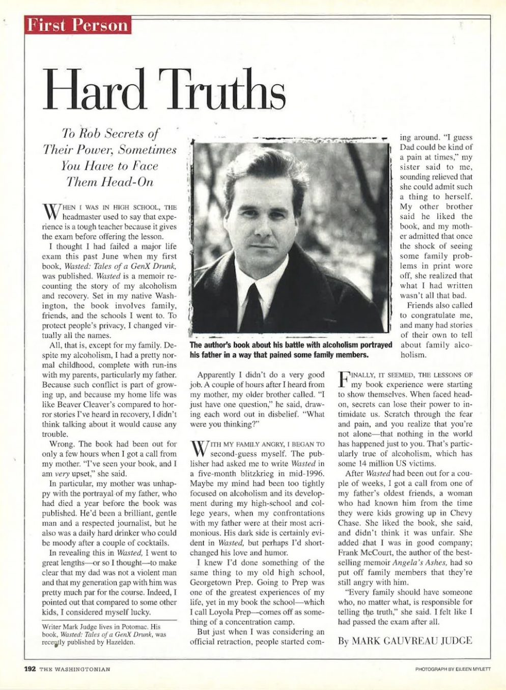 Kavanaugh's Character Witness Once Wrote About His Family