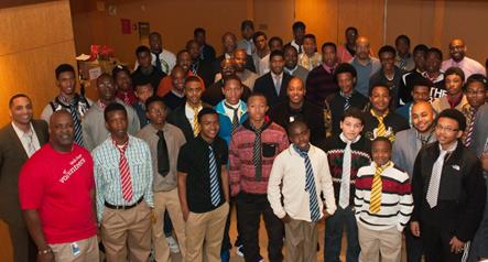 High school and college aged males showed up strong at the UNCF Empower Me Tour presented by Wells Fargo in Charlotte, NC.