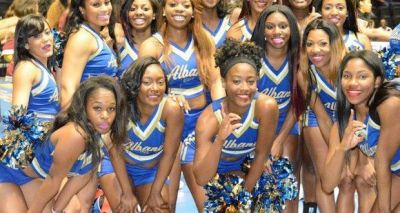 Members of the Albany State and Tuskegee cheerleading and dance teams were involved in a fight Tuesday night during halftime of an opening round SIAC tournament game. (SIAC)
