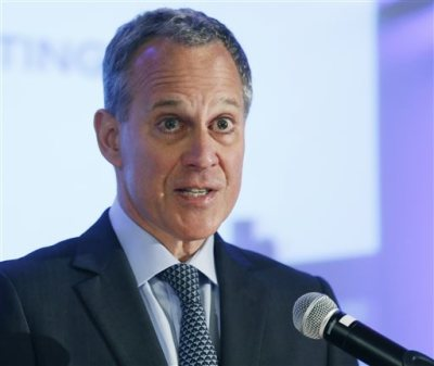 In this Sept. 14, 2014, file photo, New York State Attorney General Eric Schneiderman speaks during the annual meeting of the Business Council of New York State at the Sagamore Resort in Bolton Landing, N.Y. Amid national debate over holding officers criminally accountable for killings by police, New York is giving such cases special consideration by appointing the attorney general to investigate them, for now. (AP Photo/Mike Groll, File)