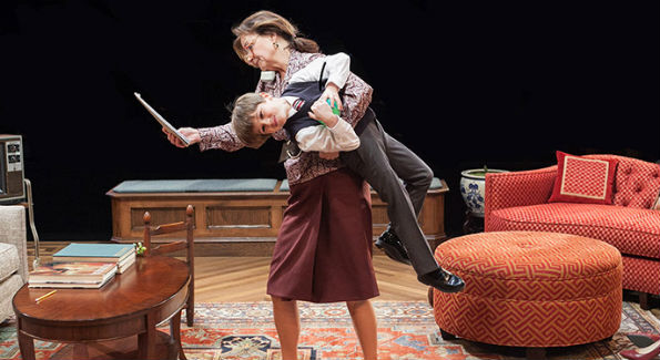 Margaret Colin as Hester Ferris and Tyler Smallwood as Young Ethan in The City of Conversation at Arena Stage at the Mead Center for American Theater January 29-March 6, 2016 (Photo by C. Stanley Photography)
