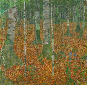 "Gustav Klimt - ""Birch Forest"""