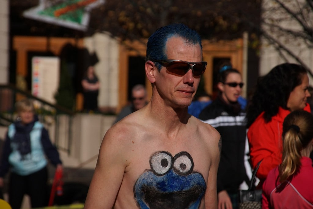 Cookie Monster made an appearance in the race. (Leanne Littman)