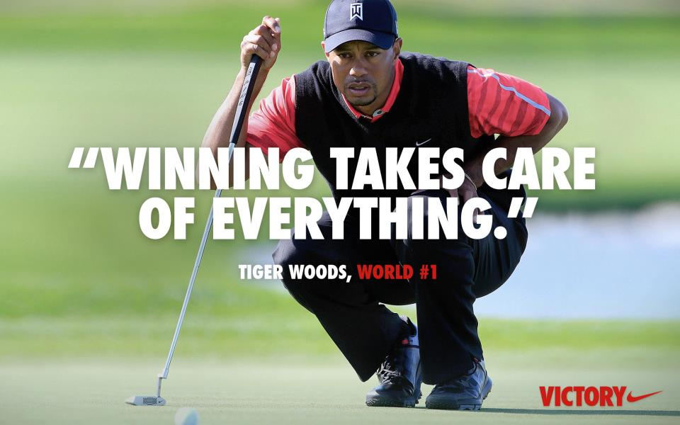 A brand-new Nike ad proclaimed Woods's new status Monday. (via Nike)