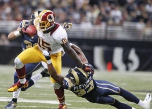 Josh Morgan says his healed ankle will lead to more yards after the catch in 2013. (Sarah Conrad/Reuters)