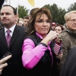 Sen. Mike Lee (R-Utah), Sarah Palin and Larry Klayman (r) (Joshua Roberts/Reuters)