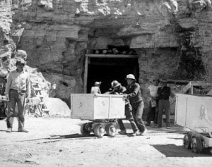 Associated Press -  FILE - In this May 7, 1953, file photo, Navajo miners work at the Kerr McGee uranium mine at Cove, Ariz., on the Navajo reservation in Arizona. Kerr-McGee left abandoned uranium mine sites, including contaminated waste rock piles, in the Lukachukai mountains of Arizona and in the Ambrosia Lake area of New Mexico.