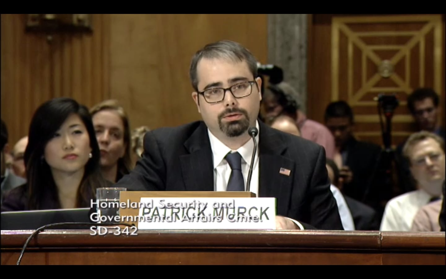 The Bitcoin Foundation's Patrick Murck testifies before the Senate Homeland Security and Government Affairs Committee (US Senate)