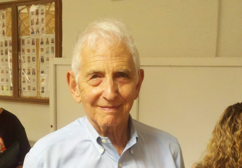 Daniel Ellsberg at an event supporting Bradley Manning in Washington, DC, on May 2, 2013. (Timothy B. Lee, Washington Post)