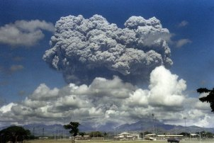 When Mount Pinatubo erupted in the Philippines in 1991, it cooled the planet nearly 1 degree F. Geoengineering would work a lot like that. (Arlan N.Aeg/AFP/Getty Images)