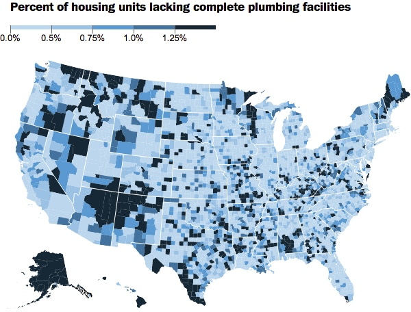 counties without plumbing