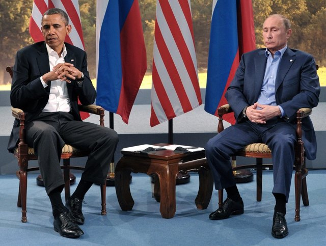 Obama and Putin at a G8 summit meeting in Northern Ireland. (EPA/ALEXEI NIKOLSKY/RIA NOVOSTI/KREM)