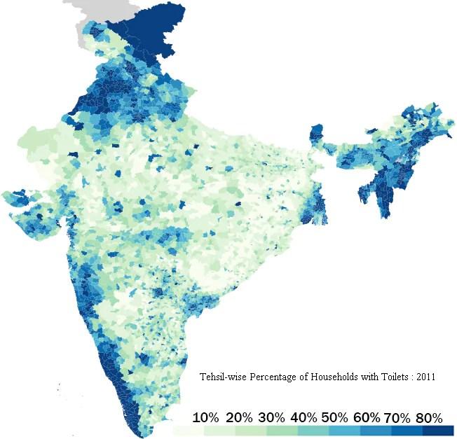 Data source: Indian census, 2011 (Avinash Celestine / Data Stories)
