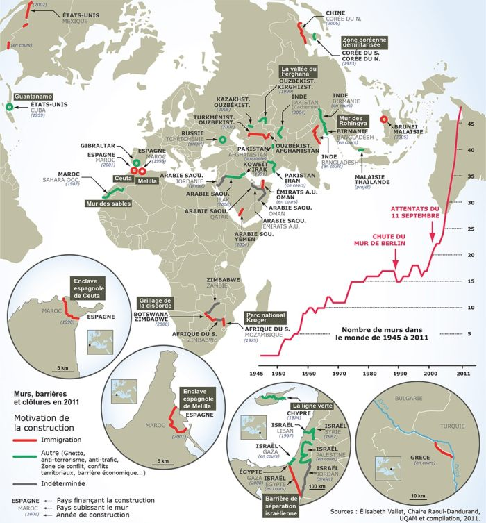 """Source: """"Atlas des migrants en Europe. Géographie critique des politiques migratoires européenne,"""" Armand Colin. (Nicolas Lambert / MigrEurop)"""
