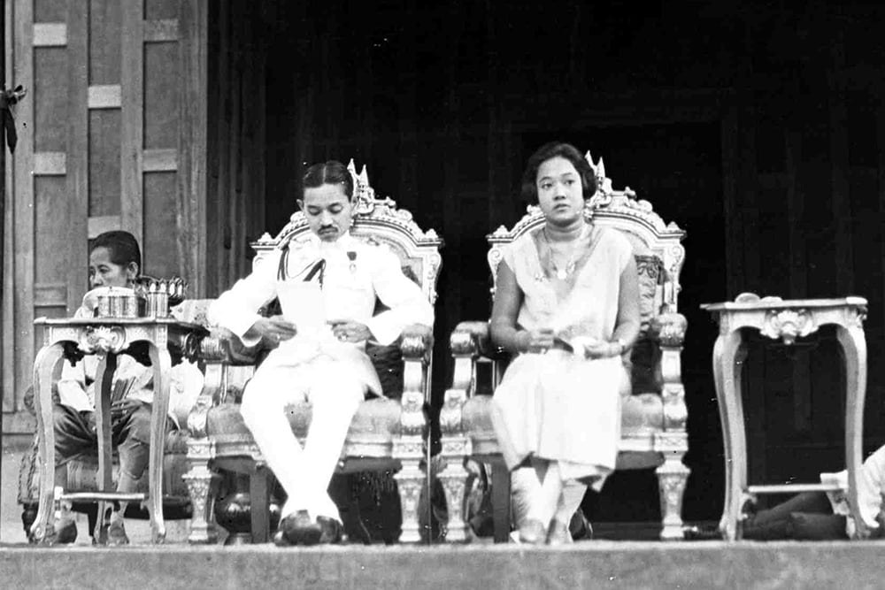 King Prajadhipok, with the queen in 1928, was overthrown in a military coup. (AP)