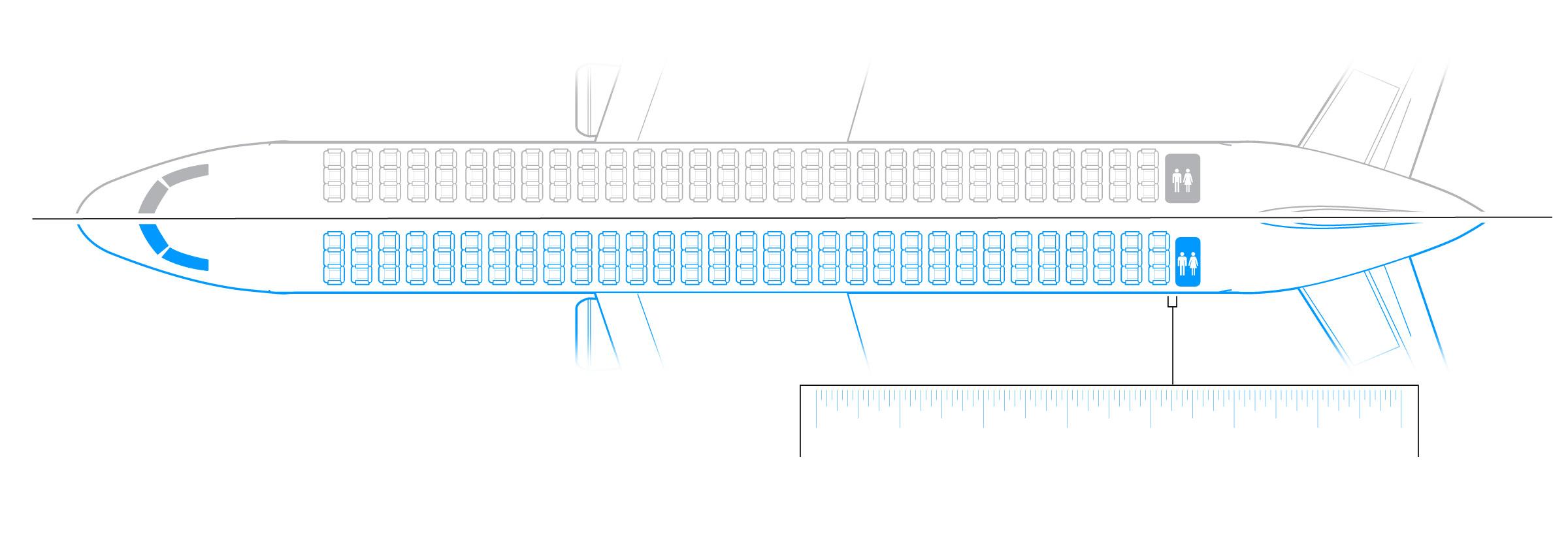 older standard bathroom and seating [ 2400 x 824 Pixel ]