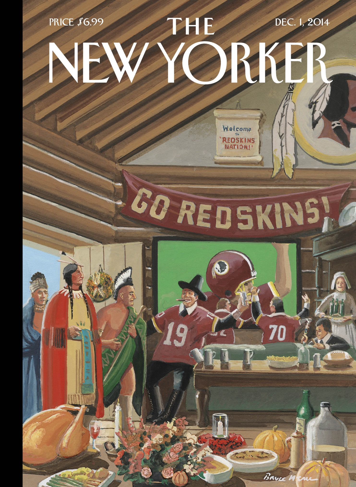 BENEATH THE COVERS The real story behind The New Yorkers ThanksgivingRedskins cover So