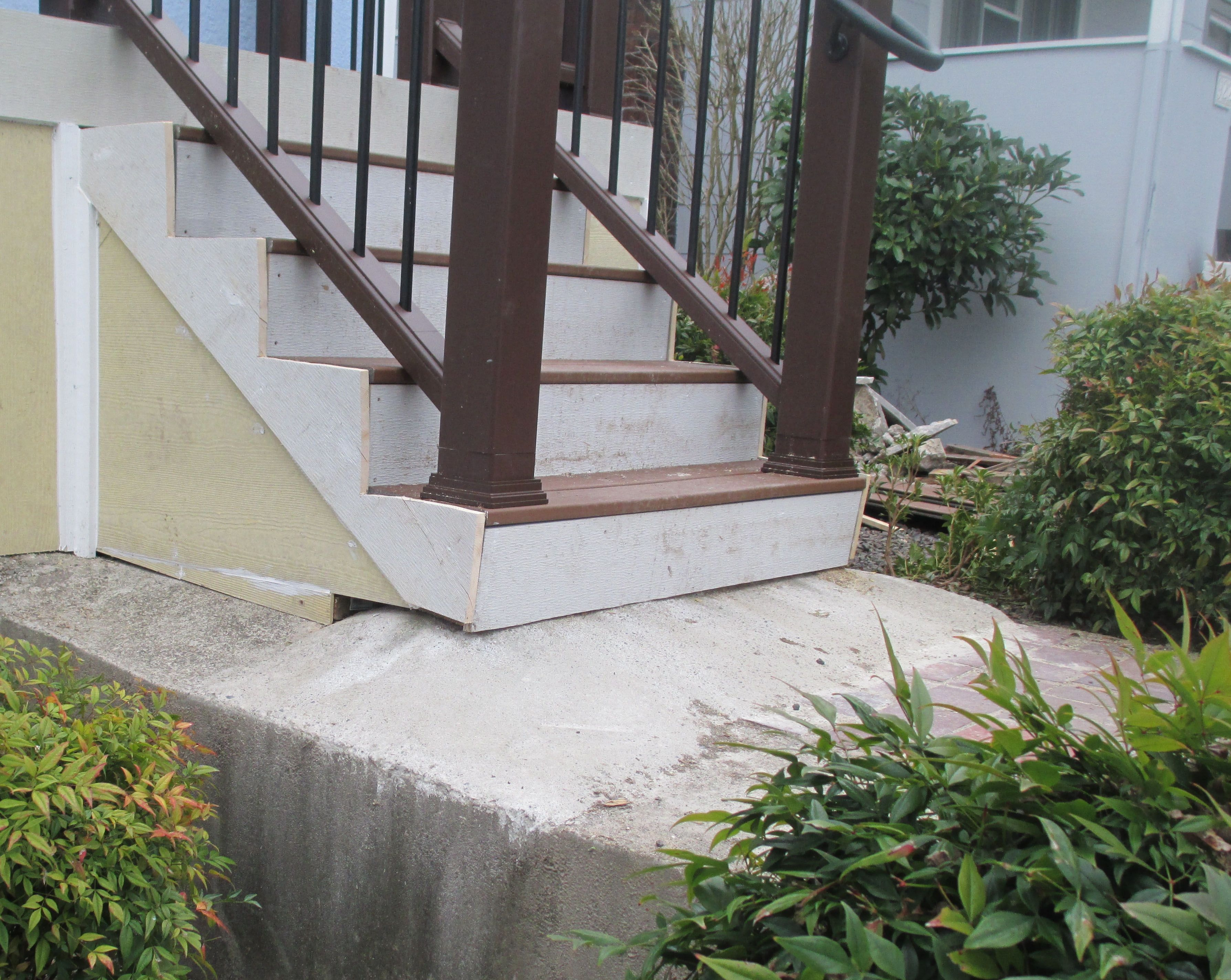 How To Avoid Rookie Mistakes When Installing Porch Steps The | Wood Railing On Concrete Steps | Stair Railing | Diy | Wooden | Railing Mode | Staircase