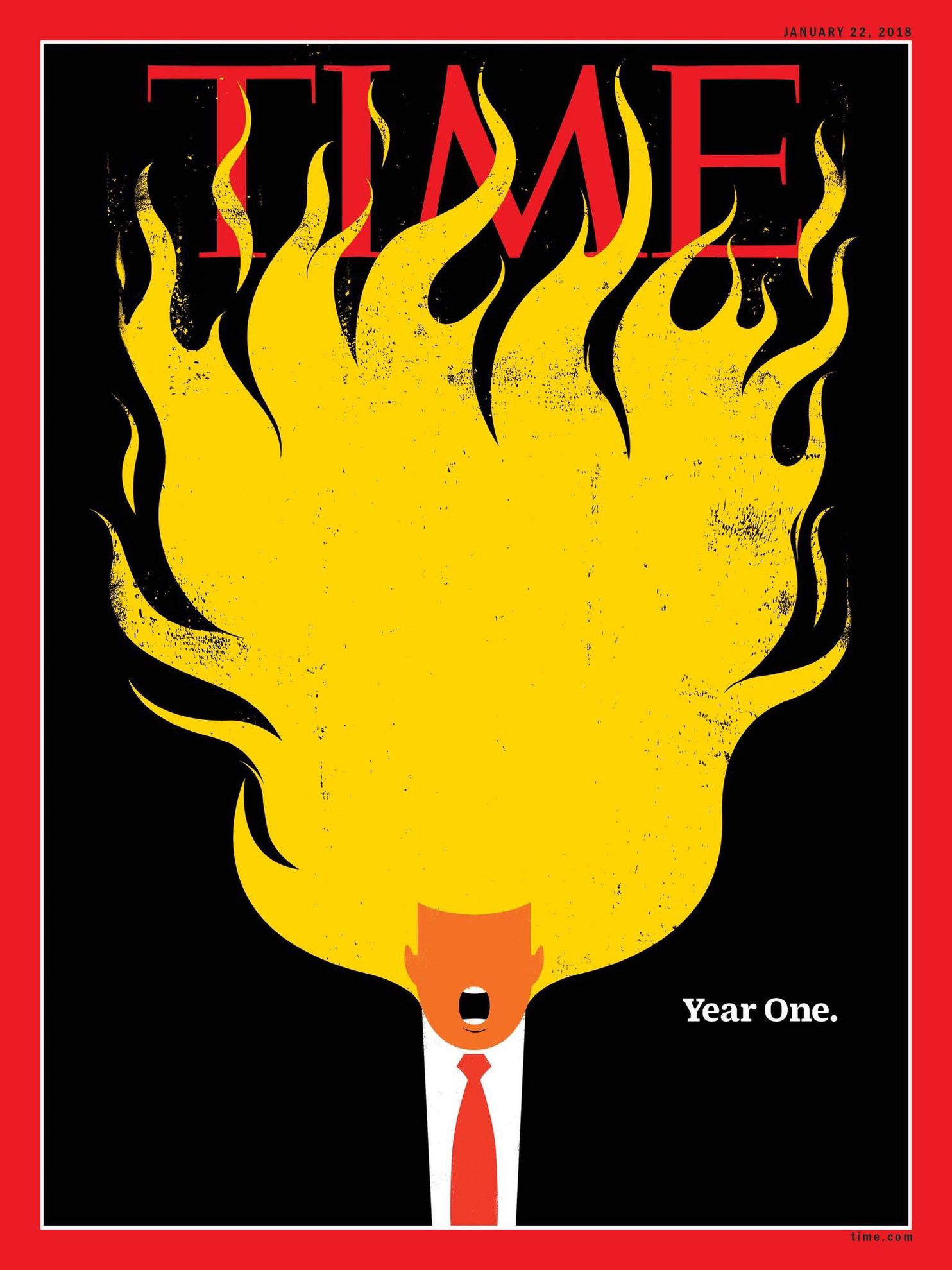 Year One Time magazines striking new cover literally