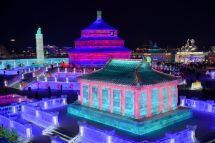 Harbin China Shines Light Beauty Of Winter