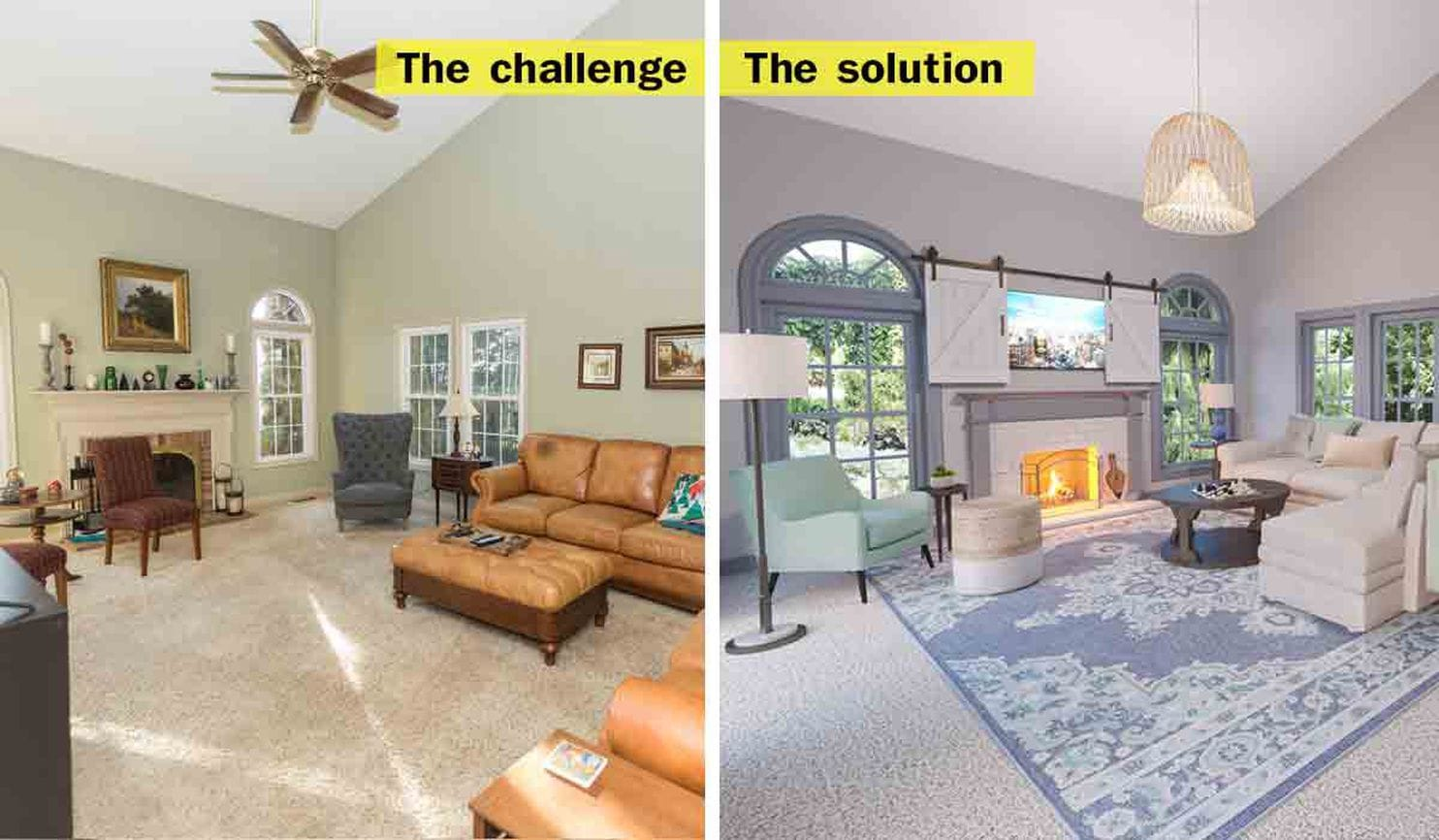 Designing a family room where the big TV isnt the focal