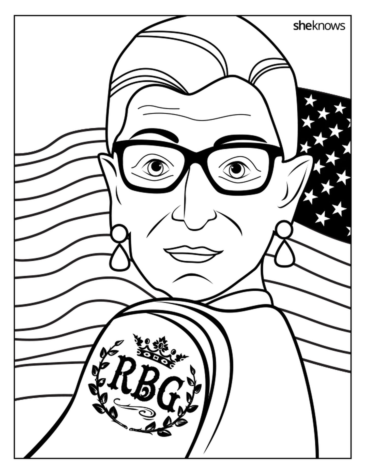 Get your crayons ready — there's an RBG coloring book