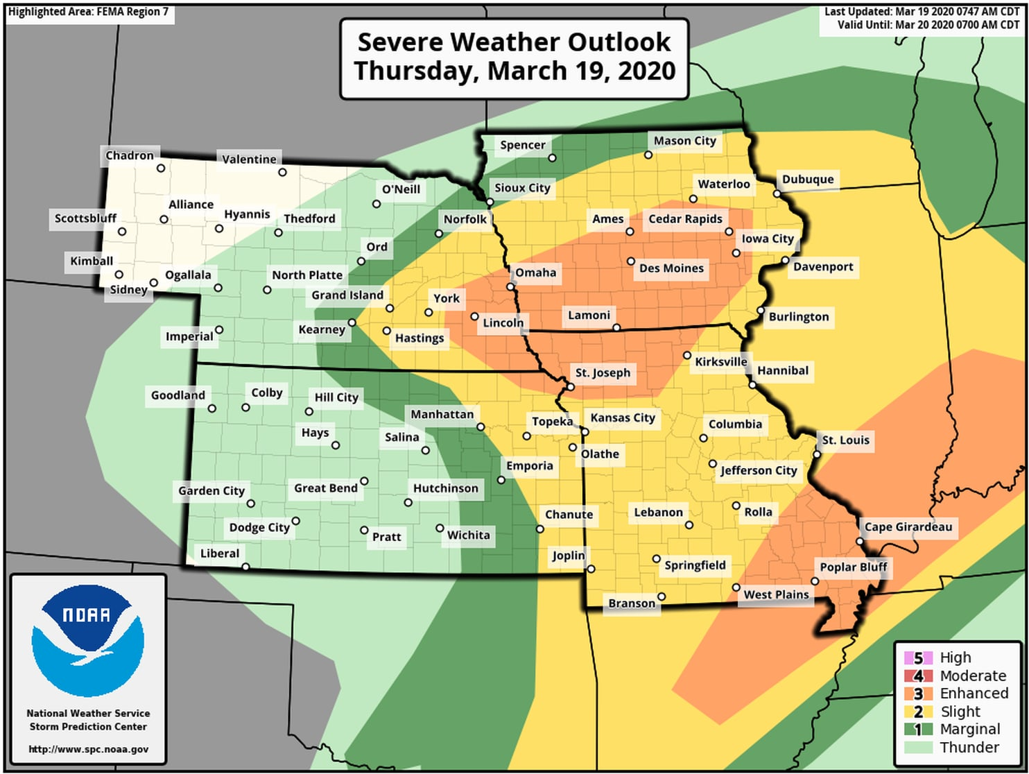 Severe Thunderstorms And Possible Tornadoes Target Central